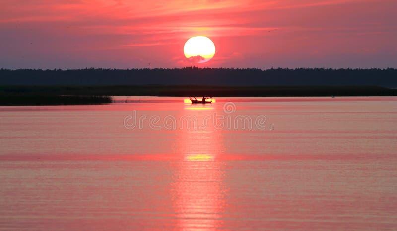 Download Boat On The Lake, Leba, Poland Stock Photo - Image: 26207502