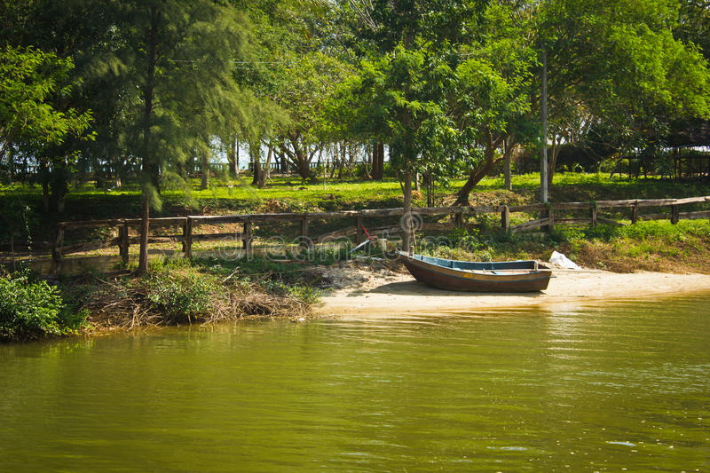 Download Boat and lake stock photo. Image of river, rural, tranquility - 39507576