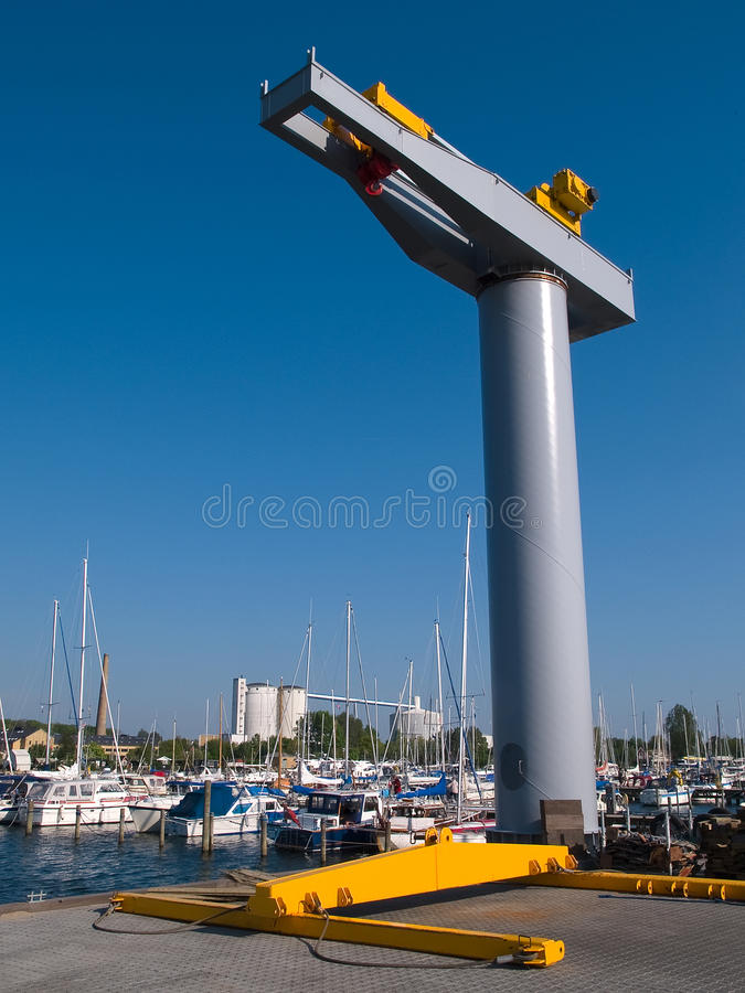 Download Boat lifter crane stock photo. Image of activity, industrial - 20439844