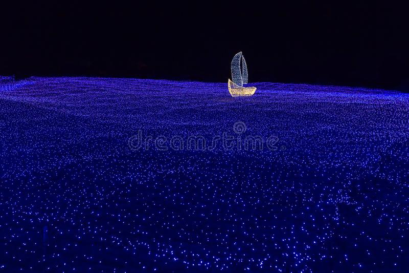 Boat of Light royalty free stock photo