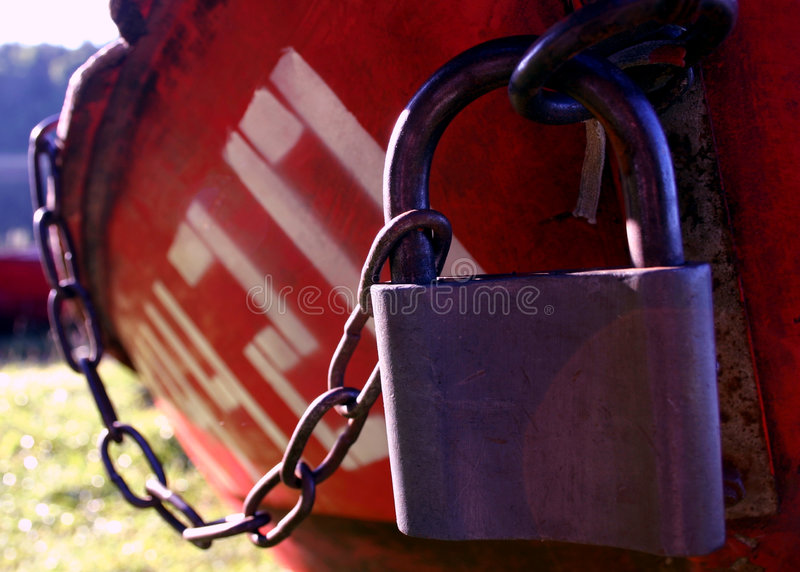 Boat locked IV stock photography