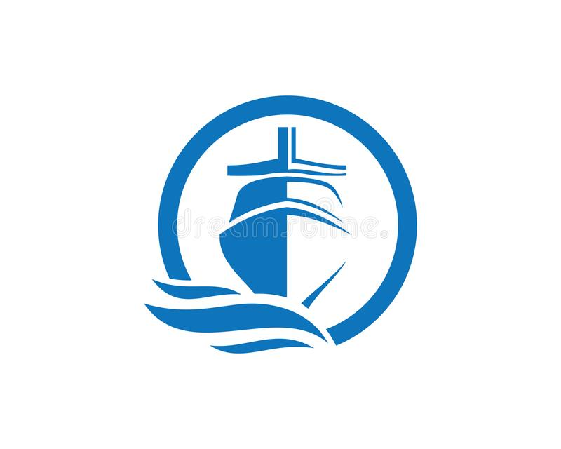 Boat Logo - Brand Identity for Boating Business. For business corporate sign royalty free illustration