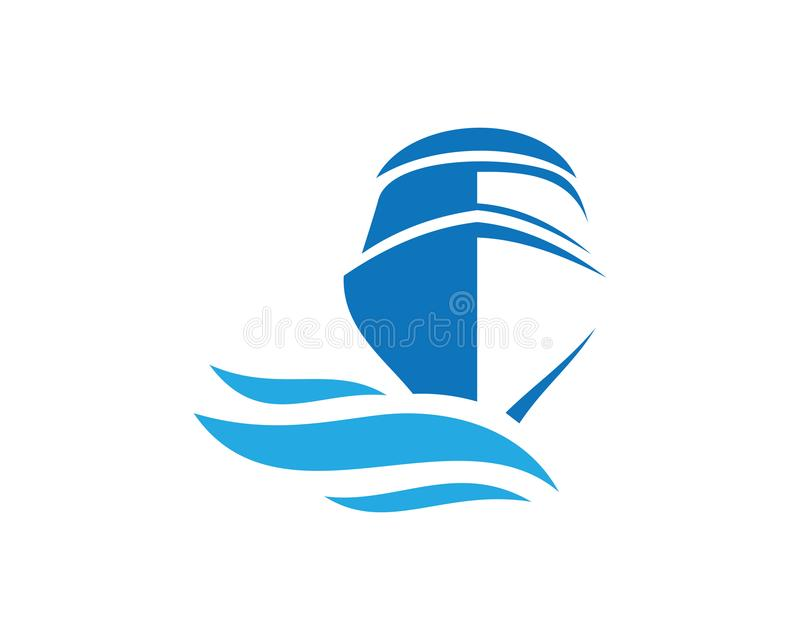 Boat Logo - Brand Identity for Boating Business. For business corporate sign vector illustration