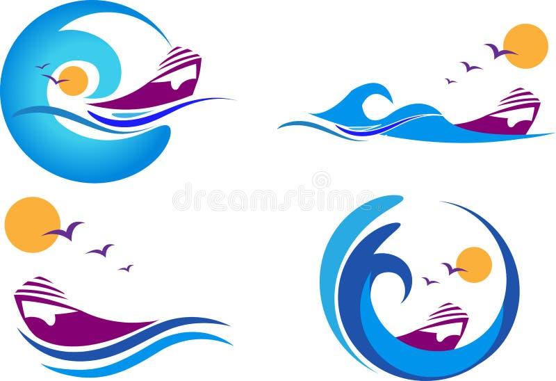 Download Boat logos stock vector. Image of clip, logo, marine - 28947581