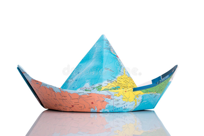 Boat made of map