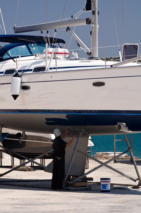 Boat in maintenance