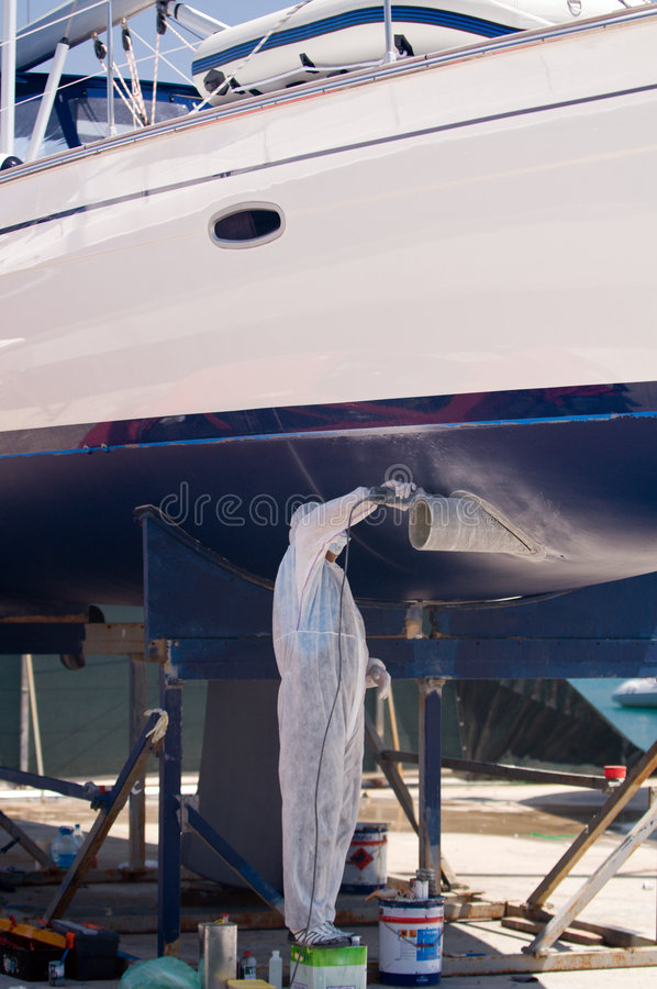 Download Boat In Maintenance Royalty Free Stock Photography - Image: 5306197