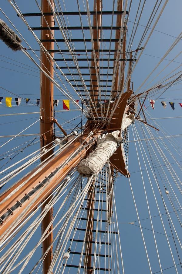 Boat mast royalty free stock photography