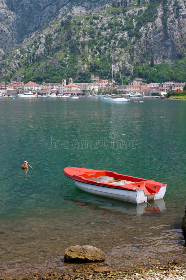 Boat in the Mediterranean - Montenegro royalty free stock photos