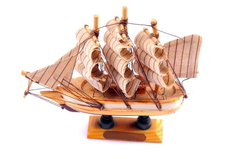 Boat model. Isolated on white background royalty free stock images