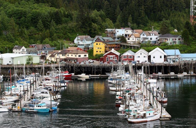 Boat Moorage. Quiet moorage in Ketchikan Alaska stock image