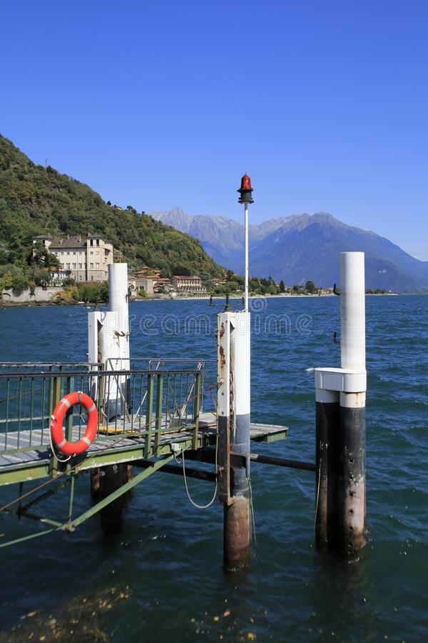 Free Boat Mooring At Gravedona, With View Over The Lake Como Royalty Free Stock Photography - 130298947