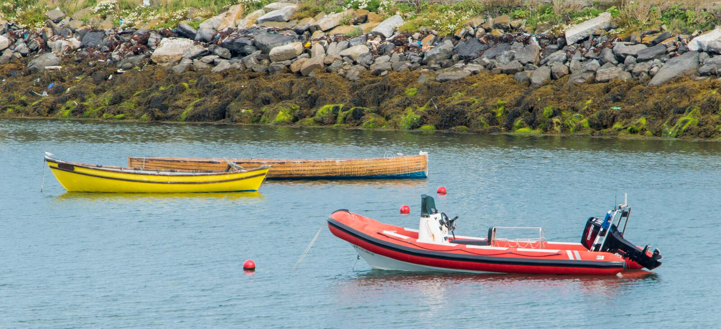 Boat mooring royalty free stock photo