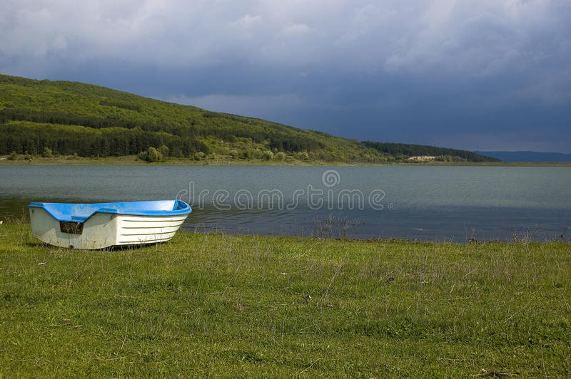 Download Boat near the lake stock photo. Image of relax, boat - 10771206
