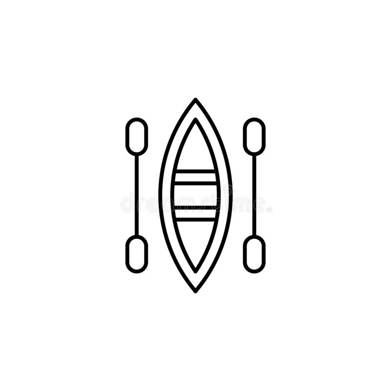 boat oars icon. Simple thin line, outline vector of summer icons for UI and UX, website or mobile application vector illustration