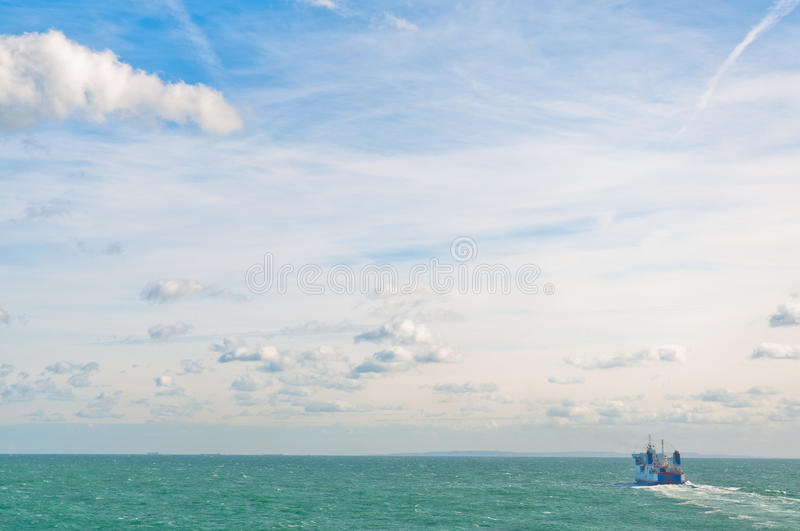Download Boat on ocean stock image. Image of nature, dover, clouds - 24637429