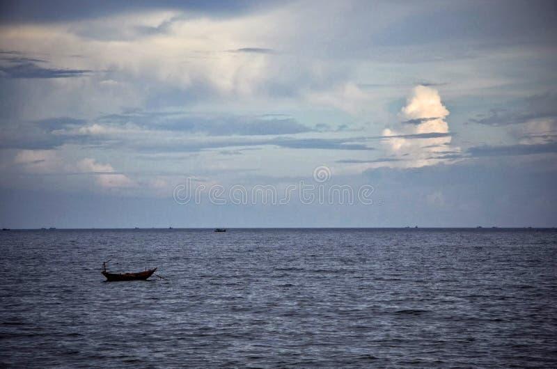 Boat in the Ocean stock photos