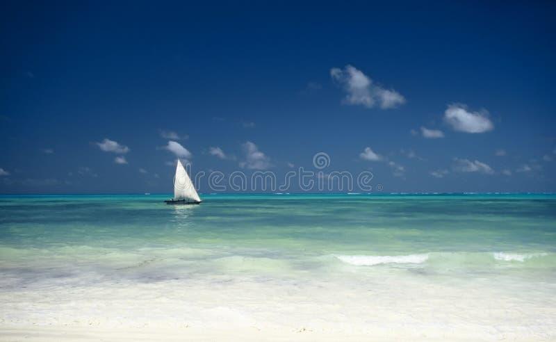 Boat and Ocean,Zanzibar,Tanzania royalty free stock photography