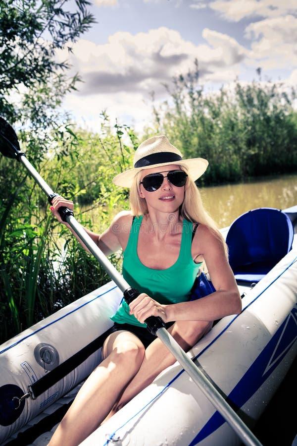 In the boat stock photo