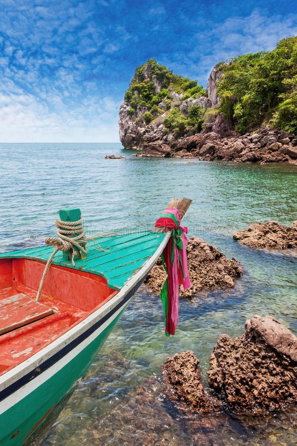 Boat park at Island. In Thailand Asia stock photos