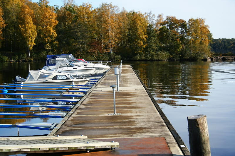 Boat parking royalty free stock image