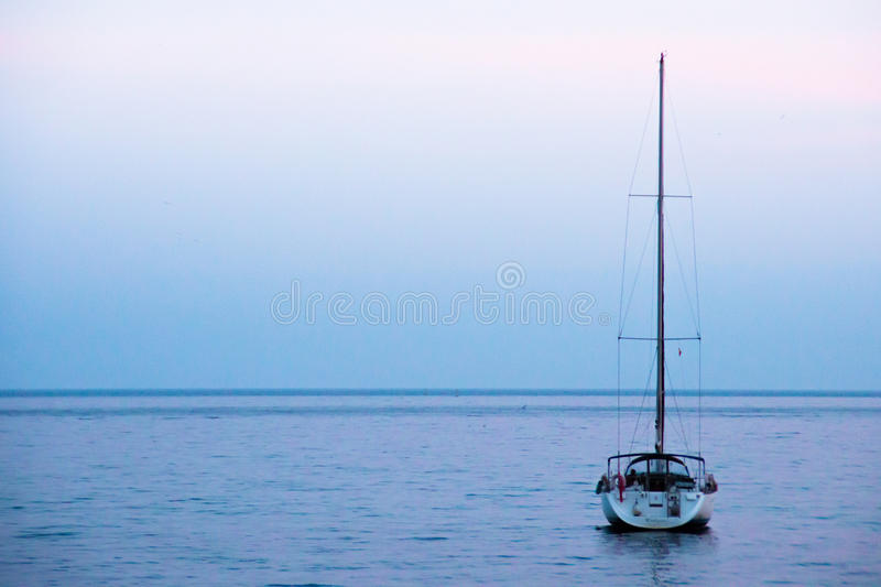 Boat. A peacefull boat in the sea stock photography