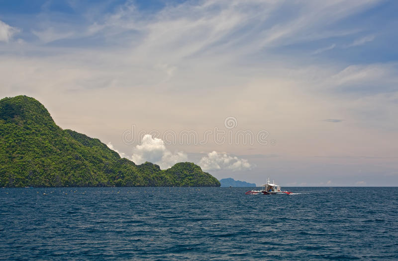 Download Boat at philippines sea stock photo. Image of sailing - 25389024