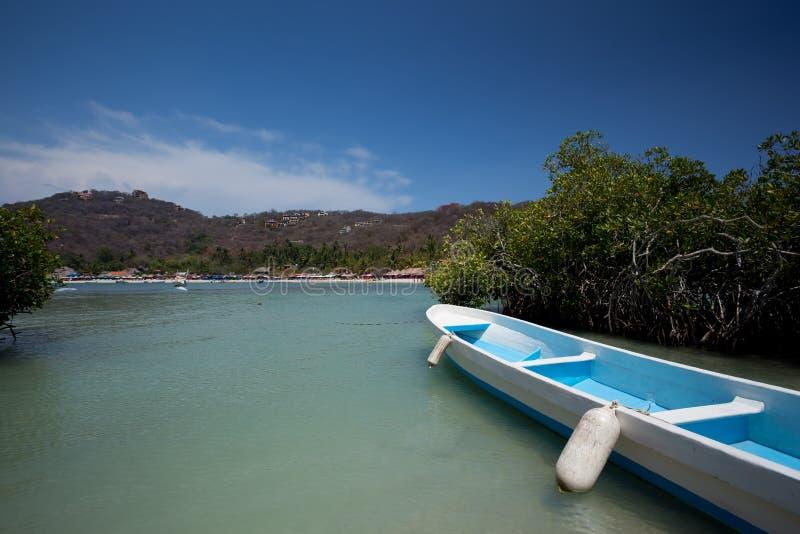 Boat at Playa las Gatas stock image