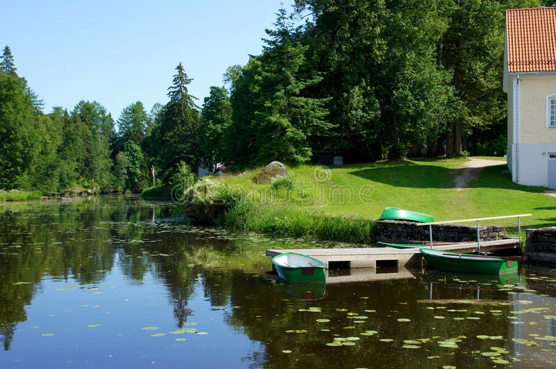 Download Boat And Pond Royalty Free Stock Photo - Image: 25618265