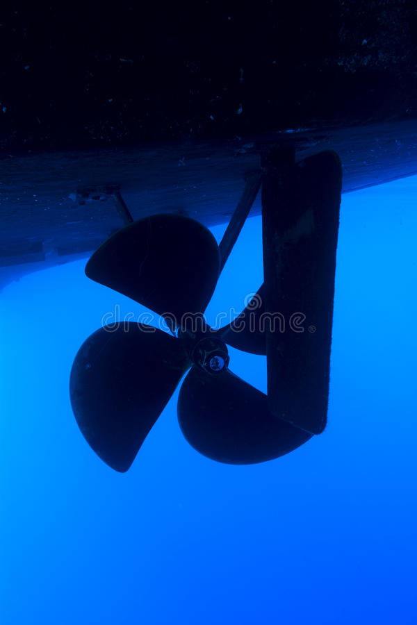 Boat propeller royalty free stock photo