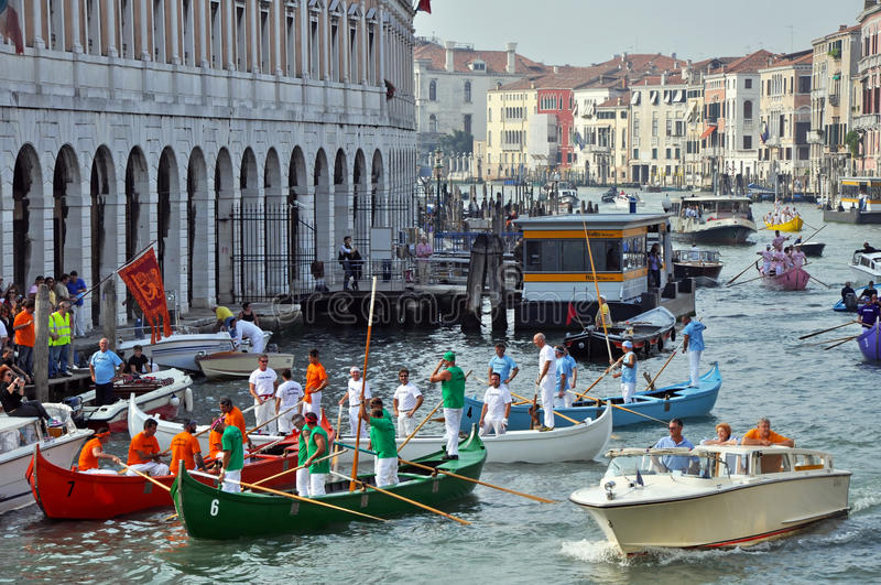 Download Boat Race in Venice editorial photography. Image of house - 17191302