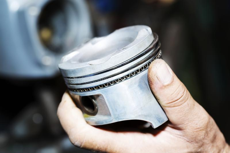 Boat racing steering engine part royalty free stock photography