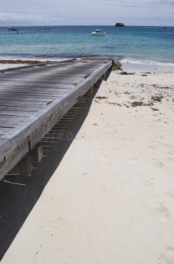 Boat ramp close up royalty free stock photography