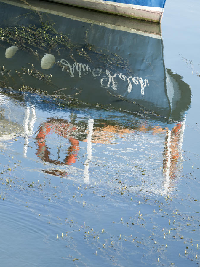 Boat reflection stock images