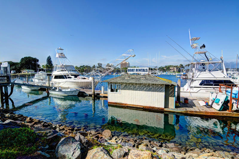Boat Rental. At Dana Landing, San Diego Ca royalty free stock images
