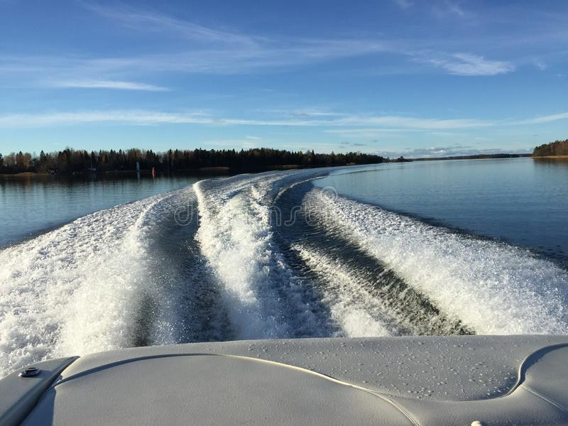 Boat ride royalty free stock photos