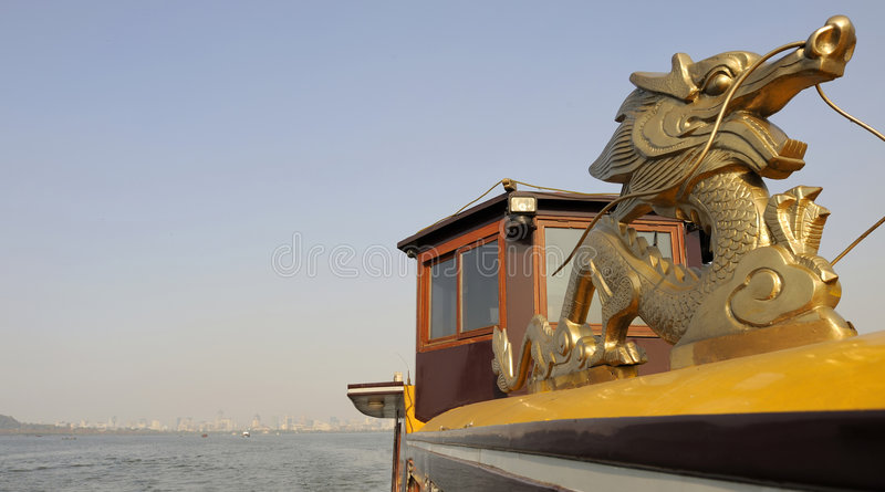 Boat Ride At The West Lake Near Hangzhou Stock Photos