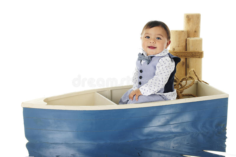 Boat Riding Baby royalty free stock photography