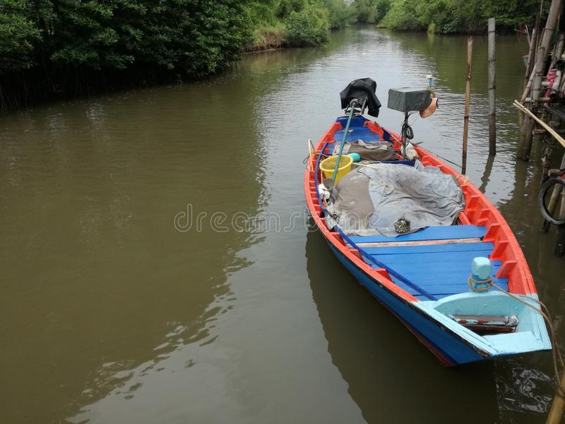Boat and River stock image