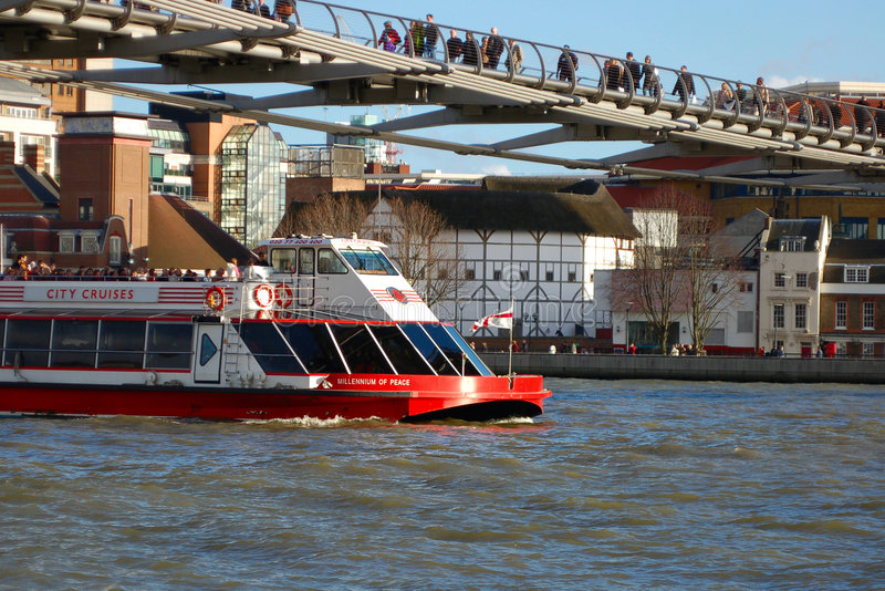 Download Boat in The River Thames stock photo. Image of famous, outflow - 786264