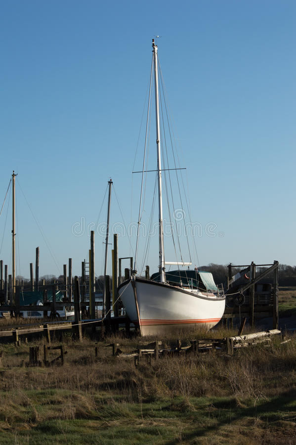 Download Boat On The Riverbank  River Wyre Stock Image - Image of thornton, winters: 86575767