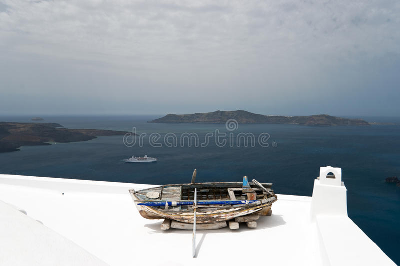 Download Boat on the roof stock image. Image of morning, nature - 24330267