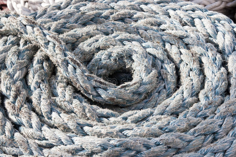 Boat rope stock photography