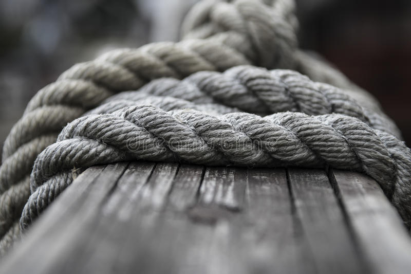 Boat rope royalty free stock image