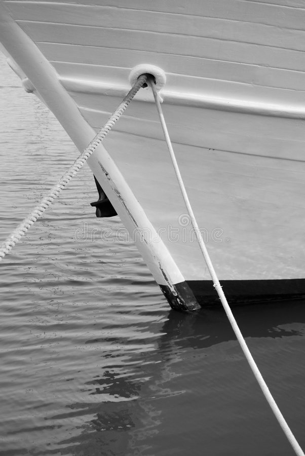 Download Boat and ropes stock image. Image of security, black, ropes - 7170941