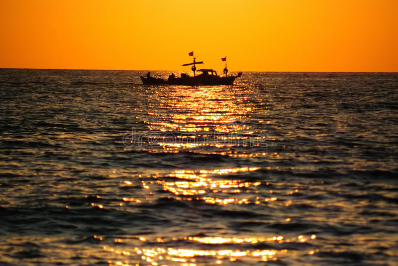 Download Boat in the sea stock image. Image of regatta, ripples - 12356111