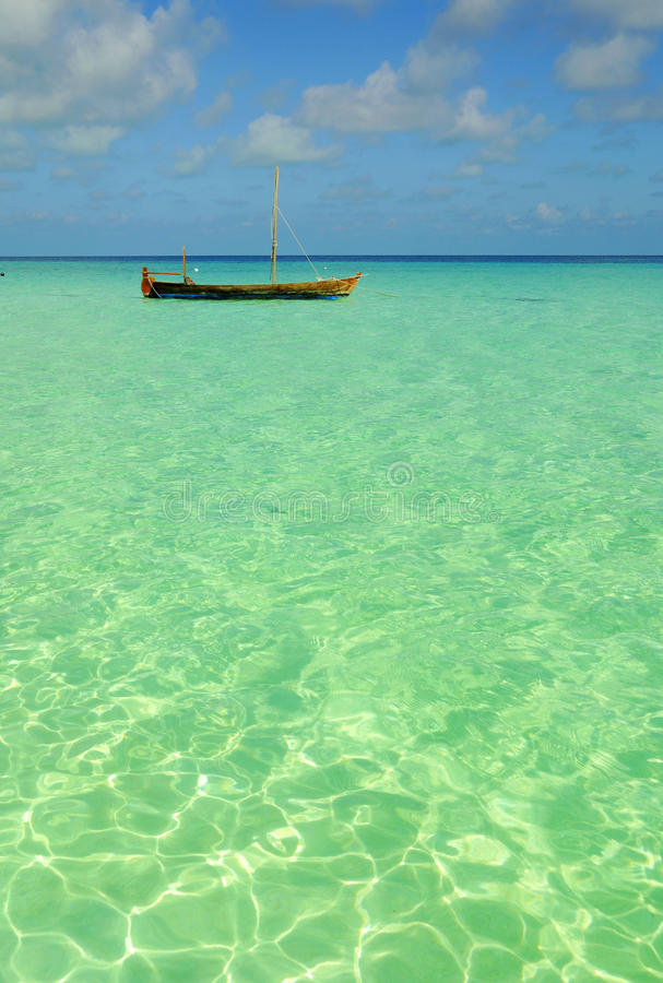 Download Boat at sea stock photo. Image of horizon, coastline - 12663522