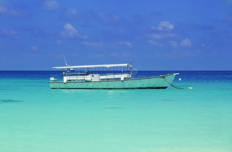 Download Boat at sea stock image. Image of dreaming, horizon, light - 12729517