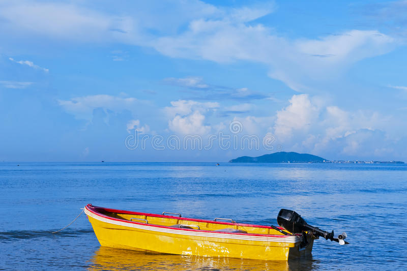 Boat  On  The  Sea Royalty Free Stock Photos