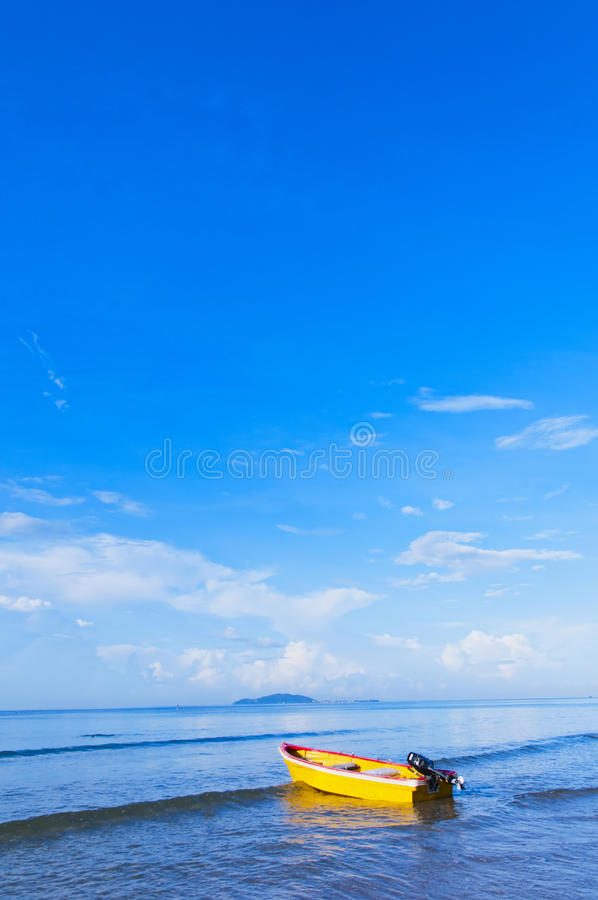 Download Boat  on  the  sea stock image. Image of boat, destination - 26605737